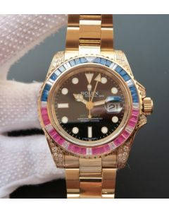 Rolex GMT-Master II BP 116758 Blue/Red Crystal Bezel A2836