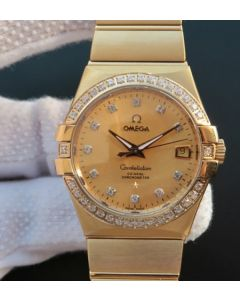 Omega V6 Constellation YG Dial Diamonds Bezel & Markers YG Bracelet A2500