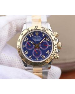 Rolex Daytona 116523 Thick YG Wrapped Blue Dial Numerals Markers SS/YG Bracelet A7750