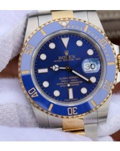 Rolex Submariner 116613 LB Noob YG Wrapped Blue Dial SS/YG Bracelet A3135