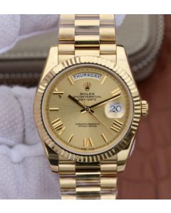 Rolex Day-Date 40mm 228238 YG Dial Roman Markers YG Bracelet A3255