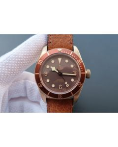 Tudor Heritage Black Bay Bronze ZF Aged Brown Leather Strap A2824
