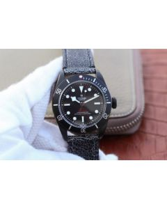 Tudor Heritage Black Bay Dark DLC ZF Black Bezel Distressed Leather Strap A2824