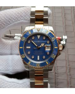 Rolex Submariner 116613 Noob YG Wrapped Blue Dial SS/YG Bracelet A3135