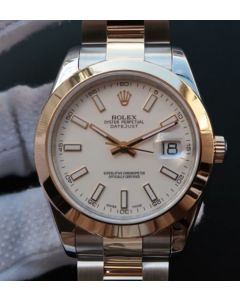Rolex Noob DateJust 126303 YG Wrapped White Dia A2824