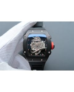 Richard Mille RM027 PVD Skeleton Dial Black Rubber Strap 6T51