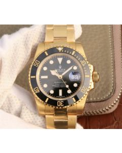 Rolex Submariner 116613 LN YG Wrapped Black Dial YG Wrapped Bracelet Eta2836