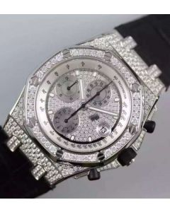 Audemars Piguet JF Royal Oak Offshore SS Full Paved Diamonds A7750