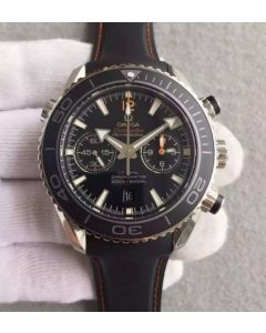 Omega Seamaster Professional Chrono Black Ceramic Black Dial Orange Rubber Strap A9300