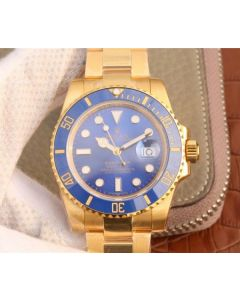 Rolex Submariner 116613 LB Noob YG Wrapped Blue Dial YG Wrapped Bracelet Eta2836