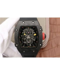 Richard Mille RM027-03 Full Black Carbon Skeleton Dial Black Rubber Strap 6T51
