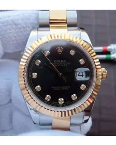 Rolex Noob DateJust 126333 YG Wrapped Black Dial